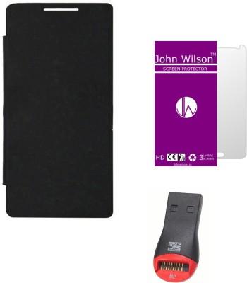 John Wilson Karbonn Titanium S25 Klick Flip Cover , Screen Cover and Card Reader  Mobile Economy Kit Combo Set available at Flipkart for Rs.339