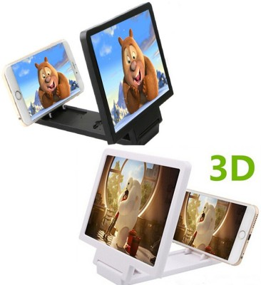 EVANA 3D Enlarge Screen For Lava_Iris_X8 Micro Portable Projector (White, Black)
