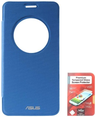 DMG Circle Window Flip Book Cover Case for Asus Zenfone 5 Maroon With Tempered Glass Screen Combo Set Blue available at Flipkart for Rs.799