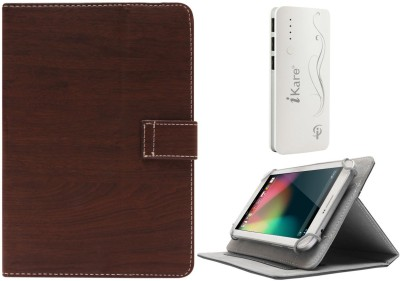 DMG Protective 7in Flip Book Cover Case for Ambrane A 707 7 inch and 10000 mAh Three USB Port Power Bank Combo Set available at Flipkart for Rs.1399
