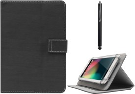 DMG Protective Flip Book Cover Stand View Case for Asus Fonepad K004 (ME371MG ) and Capacitive Touch Screen Stylus Combo Set