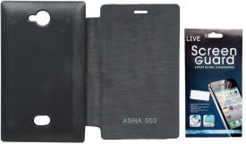 RDcase Flip Cover Plus Screen Protector for Nokia Lumia 503 Combo Set