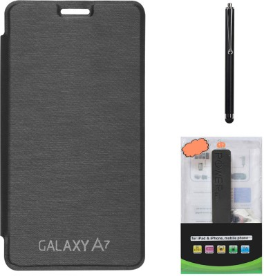 DMG Flip Cover Case for Samsung Galaxy A7 SM A 700 , 2600 mAh PowerBank & Stylus Combo Set available at Flipkart for Rs.799