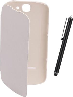 KolorEdge Flip Cover plus Stylus for LAVA Iris 458Q  White Combo Set White available at Flipkart for Rs.390