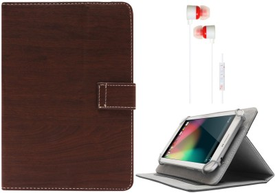 DMG Protective 7in Flip Book Cover Case for Ambrane A 707 7 inch and White Stereo Earphone with Mic and Volume Control Combo Set available at Flipkart for Rs.599