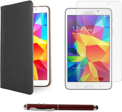Vangoddy Mary Portfolio Multi Purpose Book Style Slim Flip Case for Samsung Galaxy Tab4 T330/T331 8.0 , Laser Torch Stylus Pen and Matte Screen Combo available at Flipkart for Rs.1499