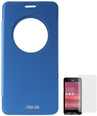 DMG Circle Window Flip Book Cover Case for Asus Zenfone 5 Royal Blue, Matte Screen, Stylus Combo Set Blue available at Flipkart for Rs.599