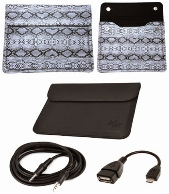 My Dress My Style 7 Inch Snake Pattern with Sleeve Flip Case /Tablet Cover For Lava Elet Cover Z7H Combo Set available at Flipkart for Rs.549