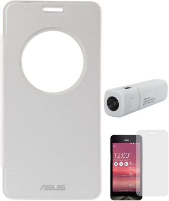 DMG Circle Window Flip Book Cover Case for Asus Zenfone 5 White, 3000 mAh PowerBank, Matte Screen Combo Set White available at Flipkart for Rs.949