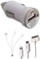 Trost 3 in 1 cable and USB Car charger Combo Set