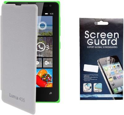 quality design 6c0f8 c1e55 KolorEdge Flip Cover, Screen Guard for Microsoft Lumia 435 Combo Set ...