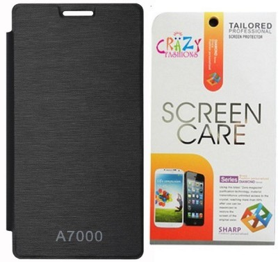 Icon Design Lenovo A7000 Flip Cover And Screen Guard Combo Set available at Flipkart for Rs.145