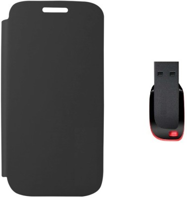 Stern & Lowe Flip Cover for Micromax Bolt A47 with 4  GB Pendrive Combo Set available at Flipkart for Rs.445