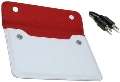 Chevron-Pouch-Cover-Case-for-Milagrow-M2-Pro-3G-16GB-Tablet-with-Aux-Cable-Combo-Set