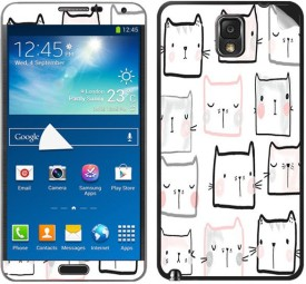 Theskinmantra Cat Faces decal Samsung Galaxy Note 3 Mobile Skin