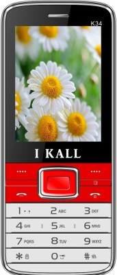 I KALL k 34 dual sim mobile with torch light Red