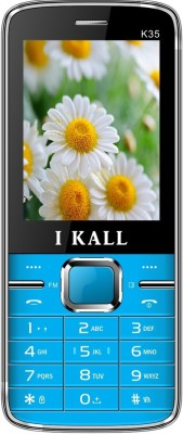 I KALL K35 dual sim mobile with torch light-Blue (2.4 inch) (Blue)
