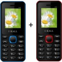 IBall 1.8 Inch Dual Sim Multimedia Set Of Two Mobile(K-66RED+K66BLUE) With Bluetooth (RED, BLUE)