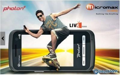 Micromax EG333 CDMA+GSM (CDMA Only Tata Sim & GSM All Sim Working) (Black)