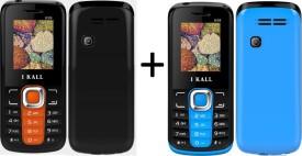 I KALL SET OF TWO (K99ORANGE+K99BLUE) Dual Sim Mobile With Keyboard (Orange, Blue)