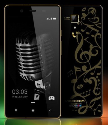 Videocon OctaCore Z55 Delite with 16 GB Card (Black Gold, 8 GB)