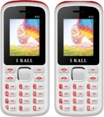 iBall 1.8 inch Dual Sim Multimedia set of two Mobile with bluetooth RED