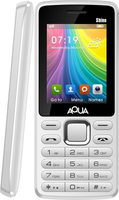Aqua Shine - Dual SIM Basic Mobile Phone (White)
