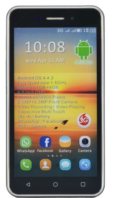 Camerii CM48Black-Ginger Android (Black, 256 MB)