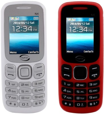 Infix N4 Set of 2 Multimedia Dual Sim with Facebook (Red, White)