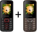 I KALL 1.8 Inch Dual Sim SET OF TWO Mobile (K88RED+K88GREY) With Bluetooth (red, Grey)