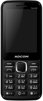 Adcom X16 (Fun) Dual Sim Mobile-Black (Black)