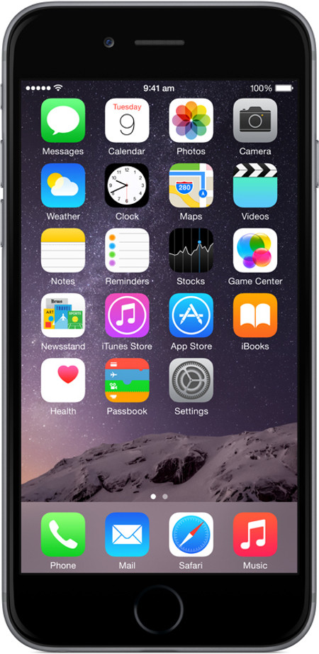 Apple iPhone 6 Space Grey, with 64 GB