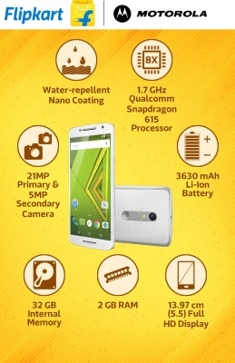 Moto X Play (White, 32 GB)