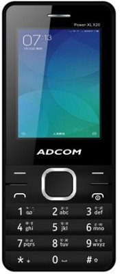 Adcom X20 (POWER XL) Dual Sim Mobile- Black (Black)