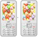 UNI 2.8 Inch Dual Sim Multimedia Set Of Two Mobile(N28) With Bluetooth-White (White)