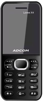 Adcom X4 Dual Sim Mobile Black