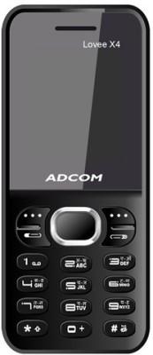 Adcom X4 (Lovee) Dual Sim Mobile-Black (Black)