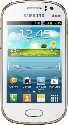 Samsung S6812   Galaxy Fame Pearl White available at Flipkart for Rs.10573