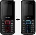 IBall K-88 Set Of 2 Dual SIM Multimedia Mobiles (Black & Red, Black & Blue)