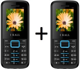 I KALL 1.8 INCH DUAL SIM MULTIMEDIA MOBILE COMBO OF TWO(K88BLUE+K88BLUE) WITH FM & BLUETOOTH (Blue)