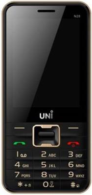 UNI N-28 Dual SIM Multimedia Mobile (Black & Gold)