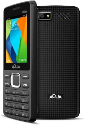 Aqua Shine - Dual SIM Basic Mobile Phone (Black)