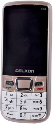 Celkon C-18 (Golden, White)