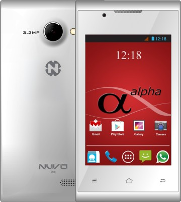 Nuvo Alpha NS35 4GB (White, 4 GB)