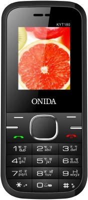 Onida KYT180 Feature Phone Black & Red (Black & Red)
