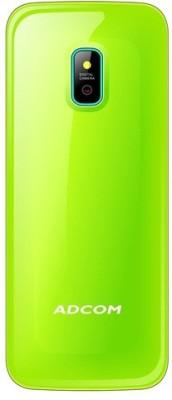 Adcom X16 (Fun) Dual Sim Mobile-Black & Green (Black, Green)