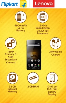 Lenovo VIBE P1 (Grey, 32 GB)