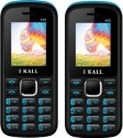 I KALL 1.8 Inch Dual Sim Multimedia Set Of Two (K-55) Mobile With Bluetooth-Blue (Blue, Black)