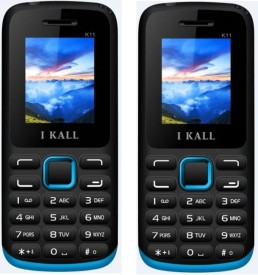 I Kall K11 1.8 Inch Dual Sim Multimedia Set Of Two Mobile With Bluetooth-Blue (Blue)