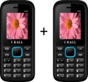 I KALL 1.8 Inch Dual Sim SET OF TWO Mobile(K55BLUE+K55BLUE) With Bluetooth (Blue)